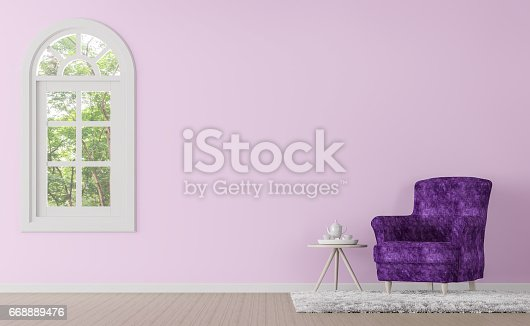 902720222istockphoto Modern classic living room with purple and pink color 3d rendering image 668889476