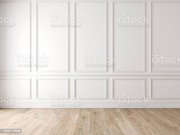 Modern classic white empty interior with wall panels and wooden floor picture id1050210568?b=1&k=6&m=1050210568&s=612x612&h=xb6h63cvanueyd0kubgeie0q7auksqpdecj3axwdtyq=