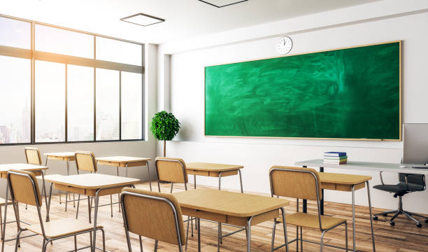 Moderne Klassenzimmer Interieur – Foto