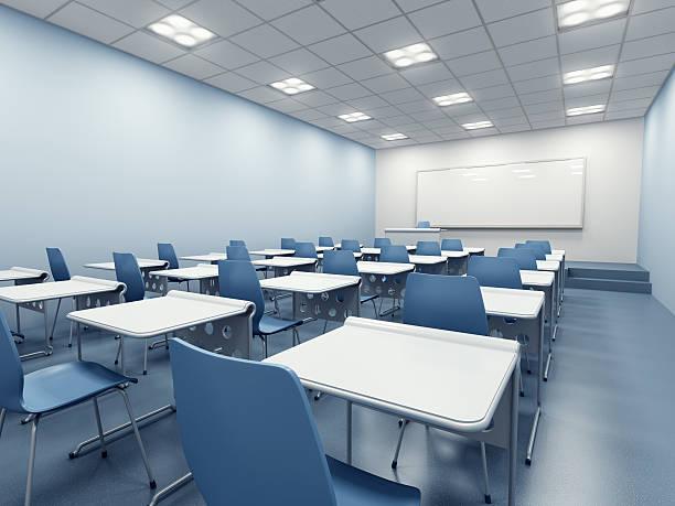 modern classroom interior stock photo