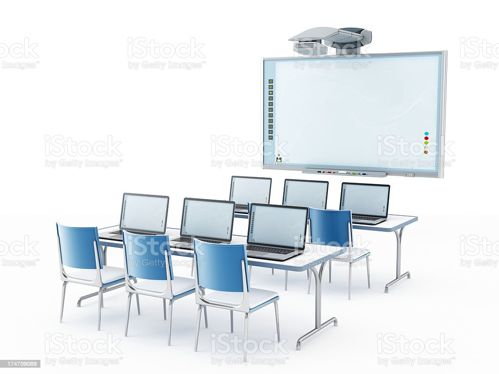 Modern classroom stock photo