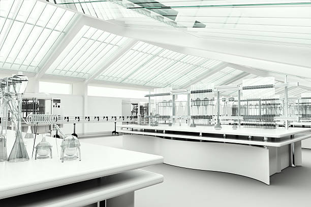 modern clean research laboratory - laboratory stock photos and pictures
