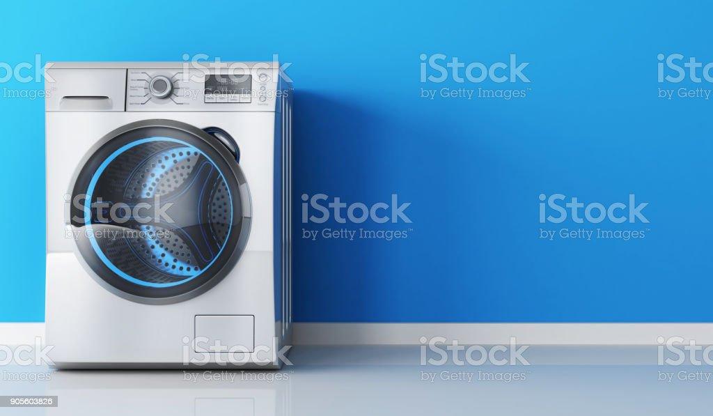 Modern clothes washer - Zbiór zdjęć royalty-free (Bez ludzi)