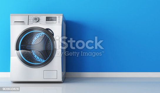 istock Modern clothes washer 905603826