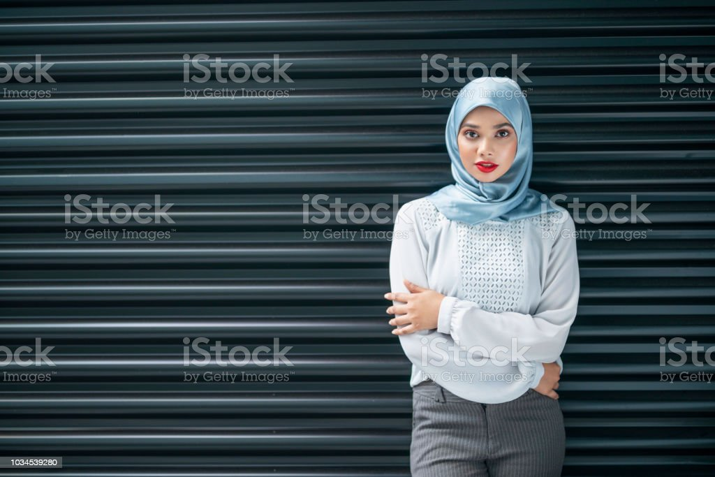 Modern clothing for muslim woman royalty-free stock photo