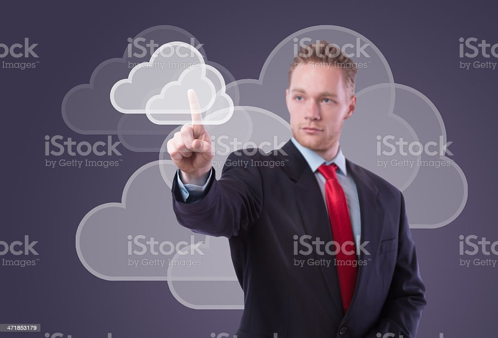Modern cloud computing technology royalty-free stock photo