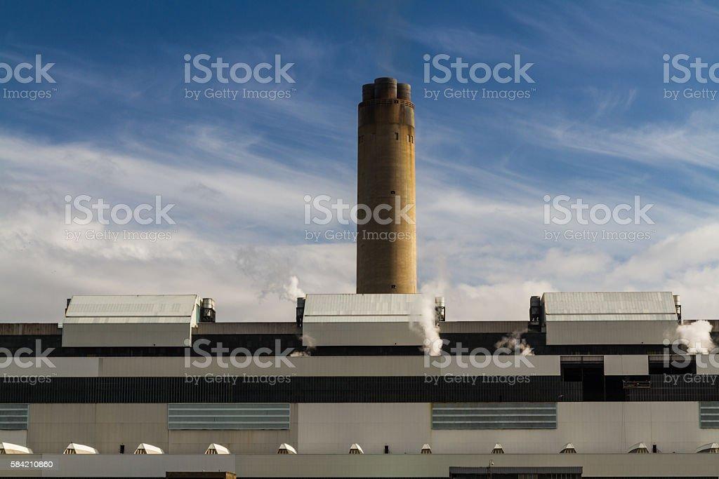 Modern coal fired power station. stock photo
