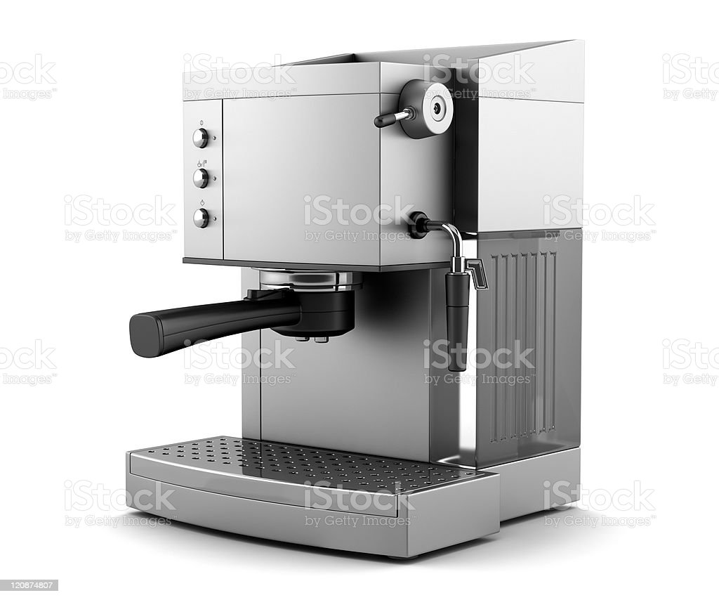 modern coffee machine isolated on white background with clipping path stock photo