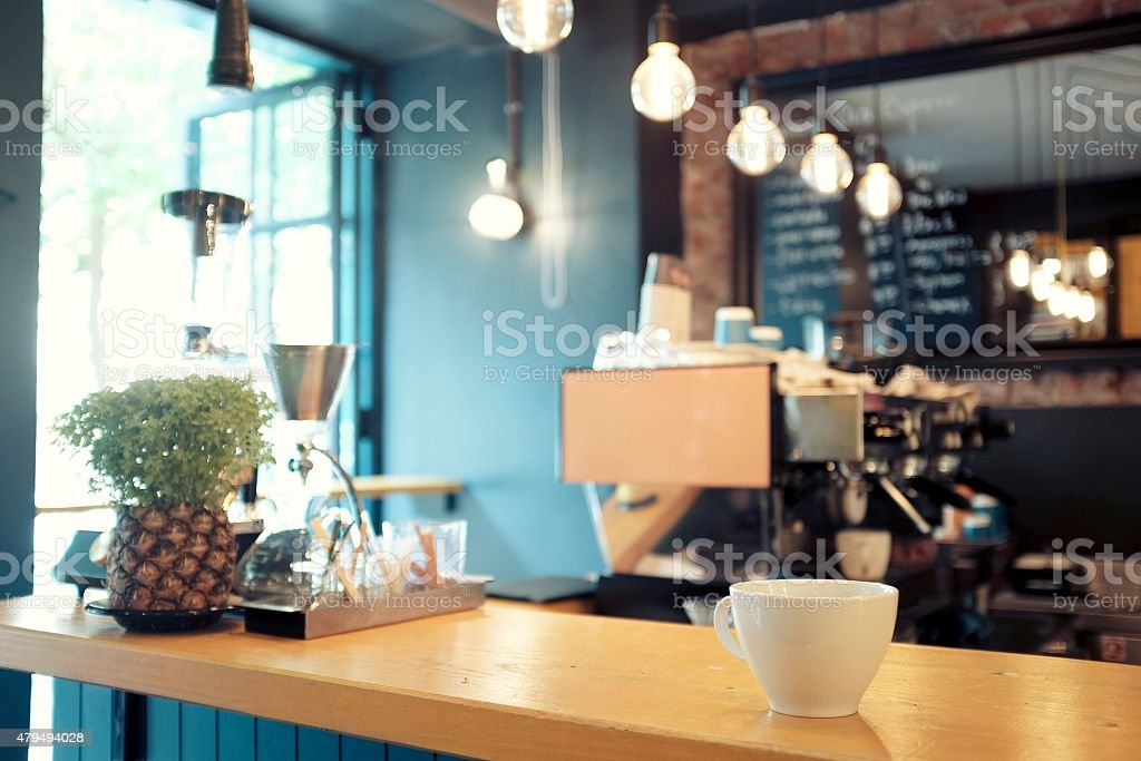 Modern Coffee Shop stock photo