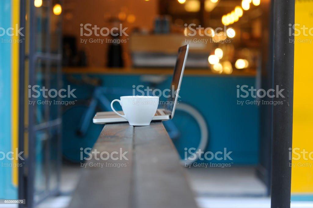 Modern coffee shop stock photo