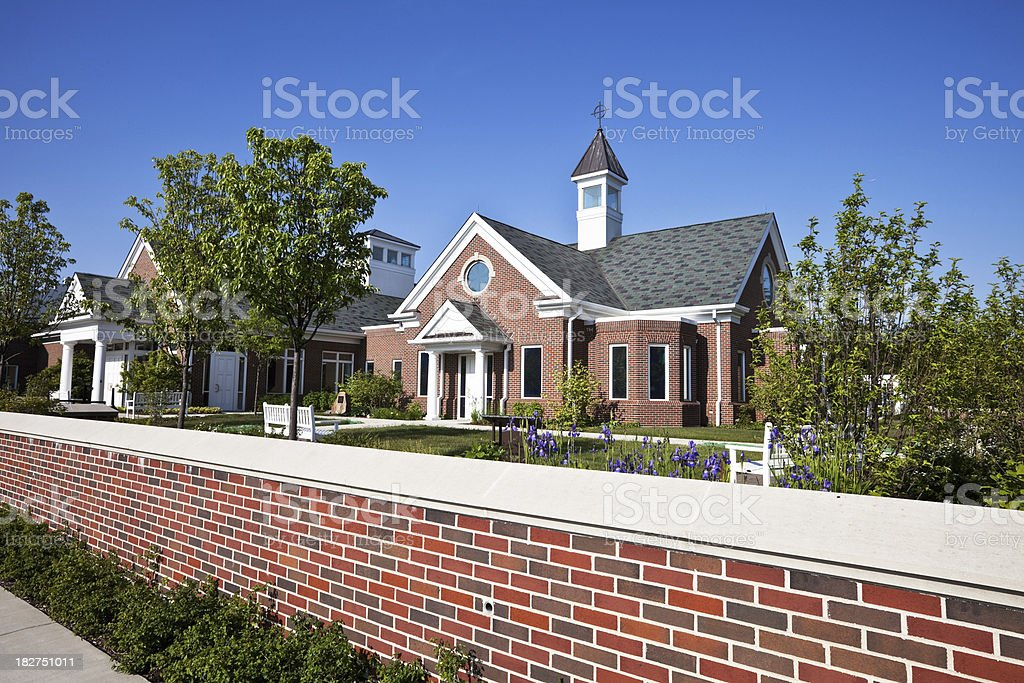 Modern Colonial Style Office Building in Chicago royalty-free stock photo