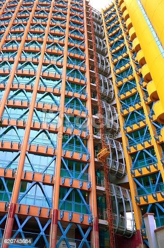 istock Modern color multi-storey building. 620743684