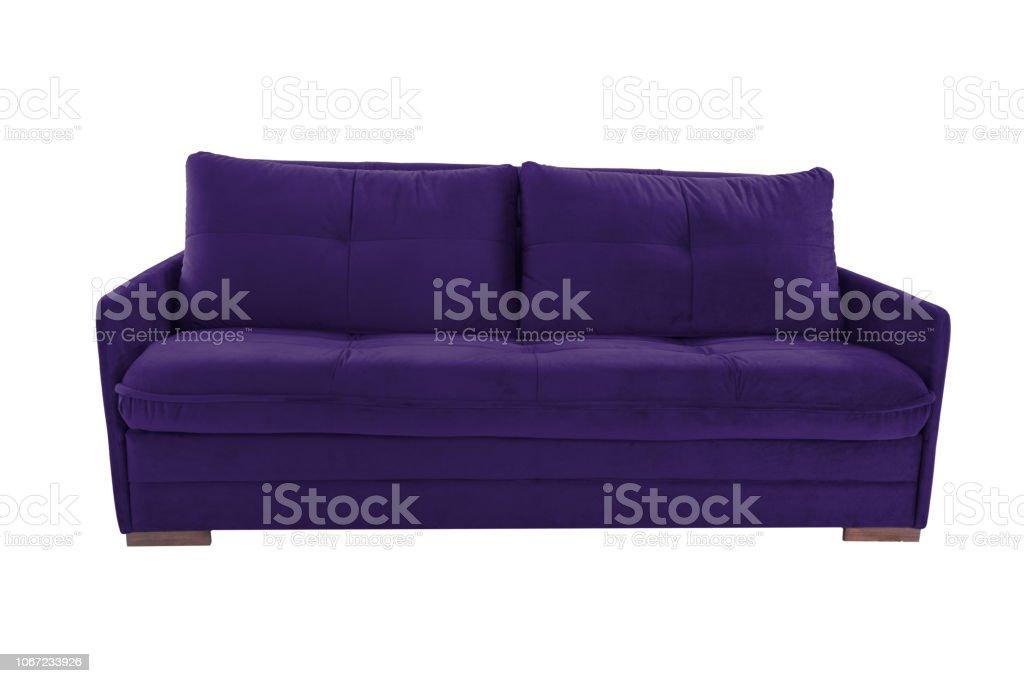 Moderne Farbe Wildleder Couch Sofa Isoliert Auf Weißem ...