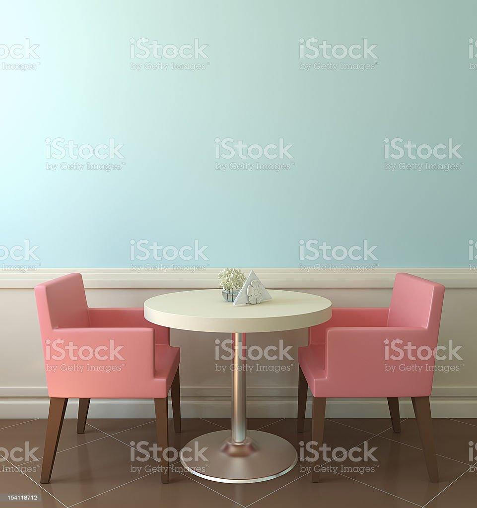 Modern colourful coffee house stock photo
