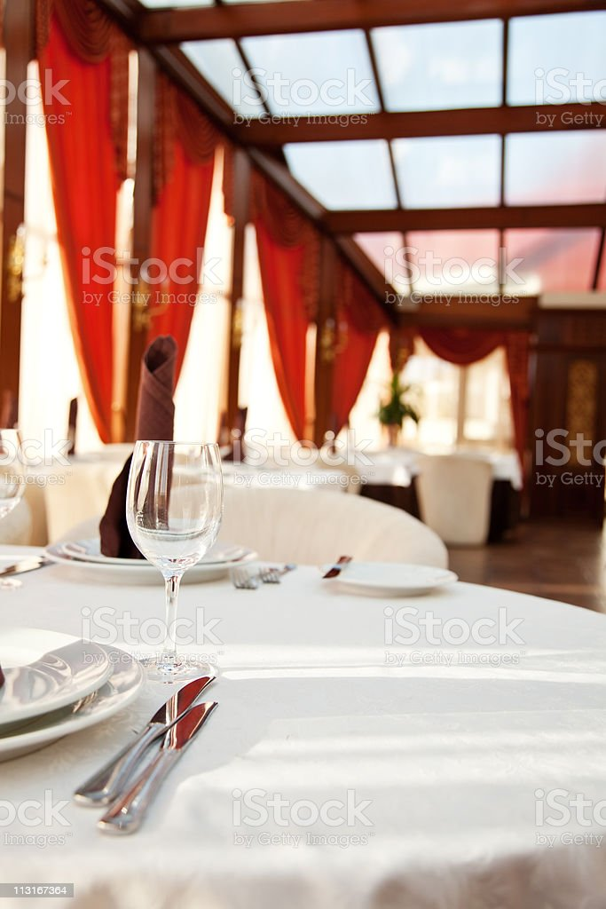 Modern comfortable cafe in the mall royalty-free stock photo