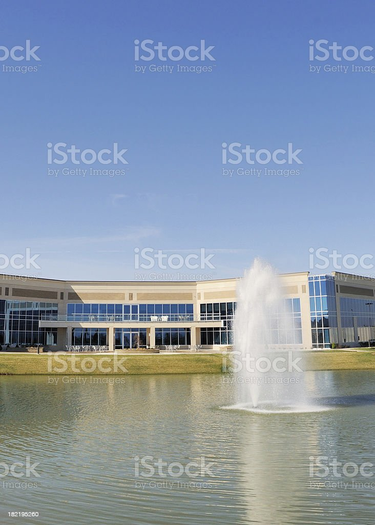 Modern Commercial Real Estate Office Building or Corporate Headquarters stock photo