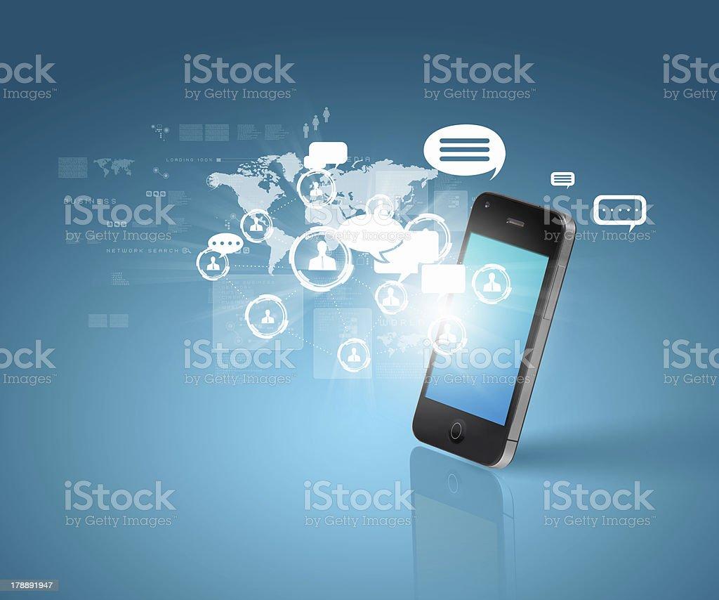 Modern communication technology royalty-free stock photo