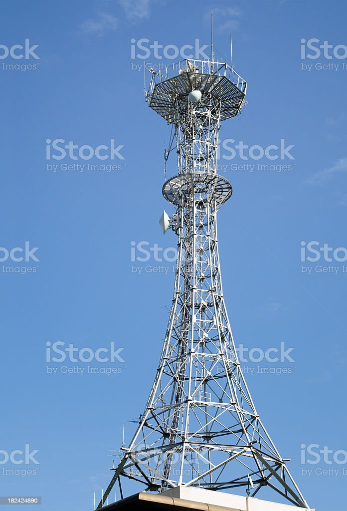 Modern Communications Tower royalty-free stock photo