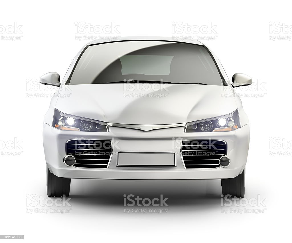 Modern compact car in studio. stock photo