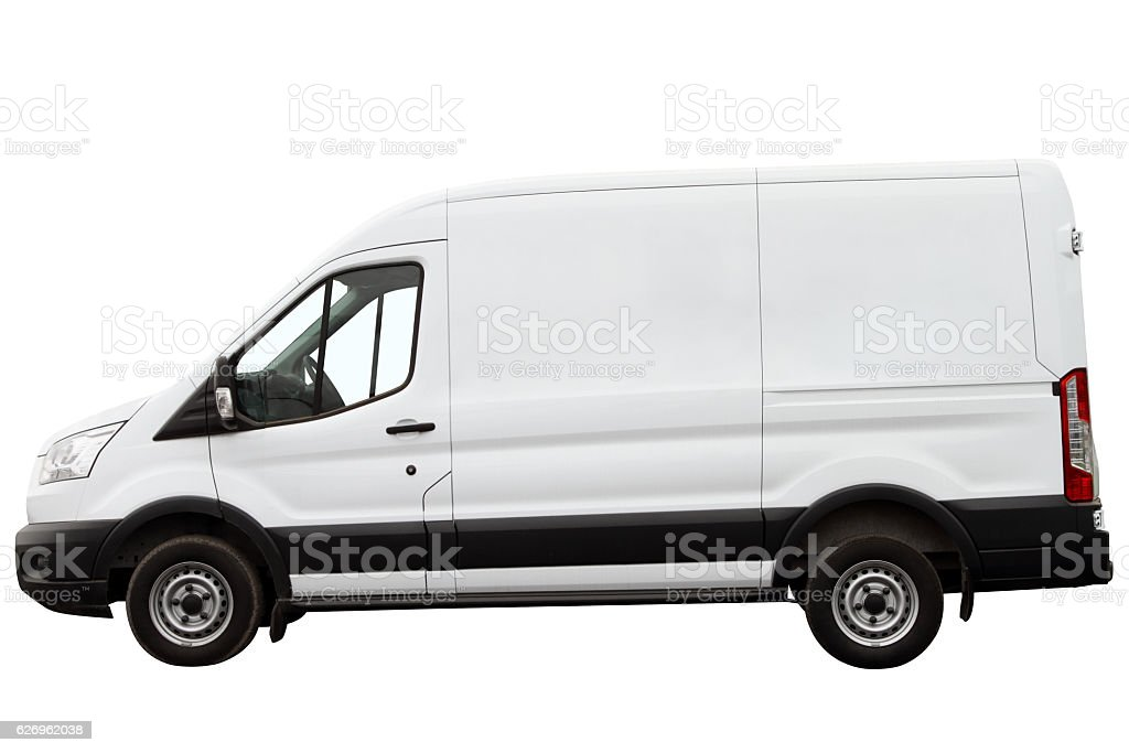 Modern compact minivan. stock photo