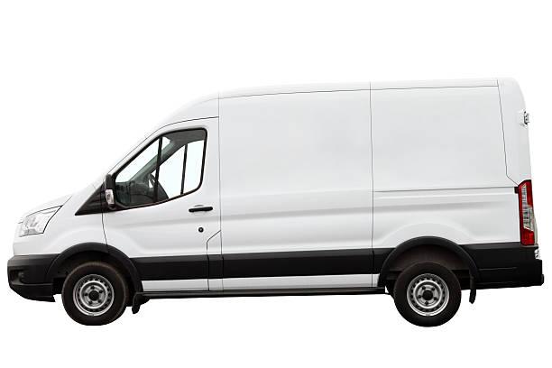 modern compact minivan. - van stock-fotos und bilder