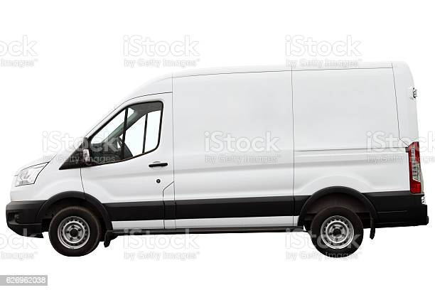 Modern compact minivan isolated on a white background.