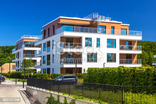 istock Modern complex of apartment buildings, Gdynia 500737248