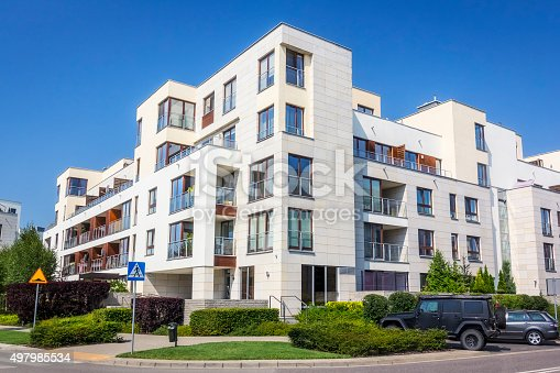istock Modern complex of apartment buildings, Warsaw 497985534