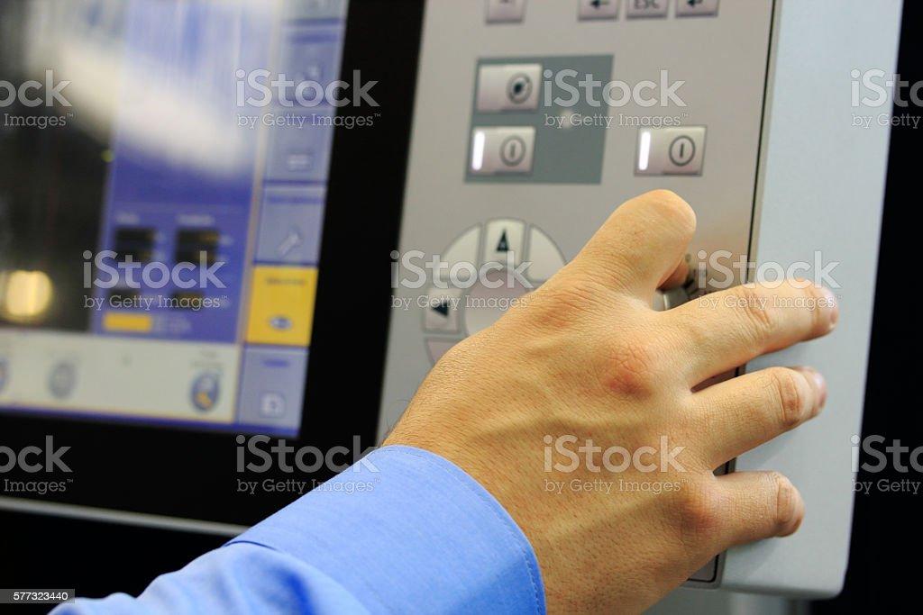 modern computer equipment stock photo