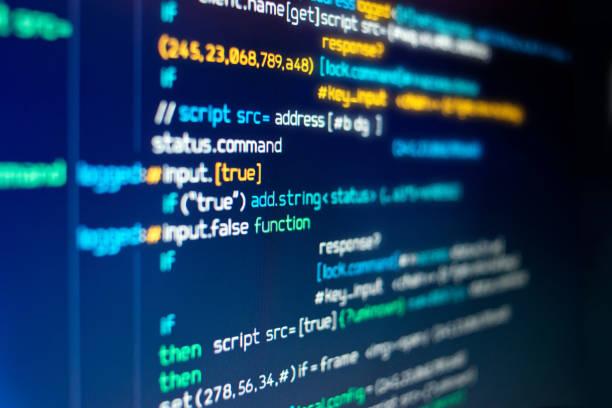 Modern Computer programming Code - foto stock