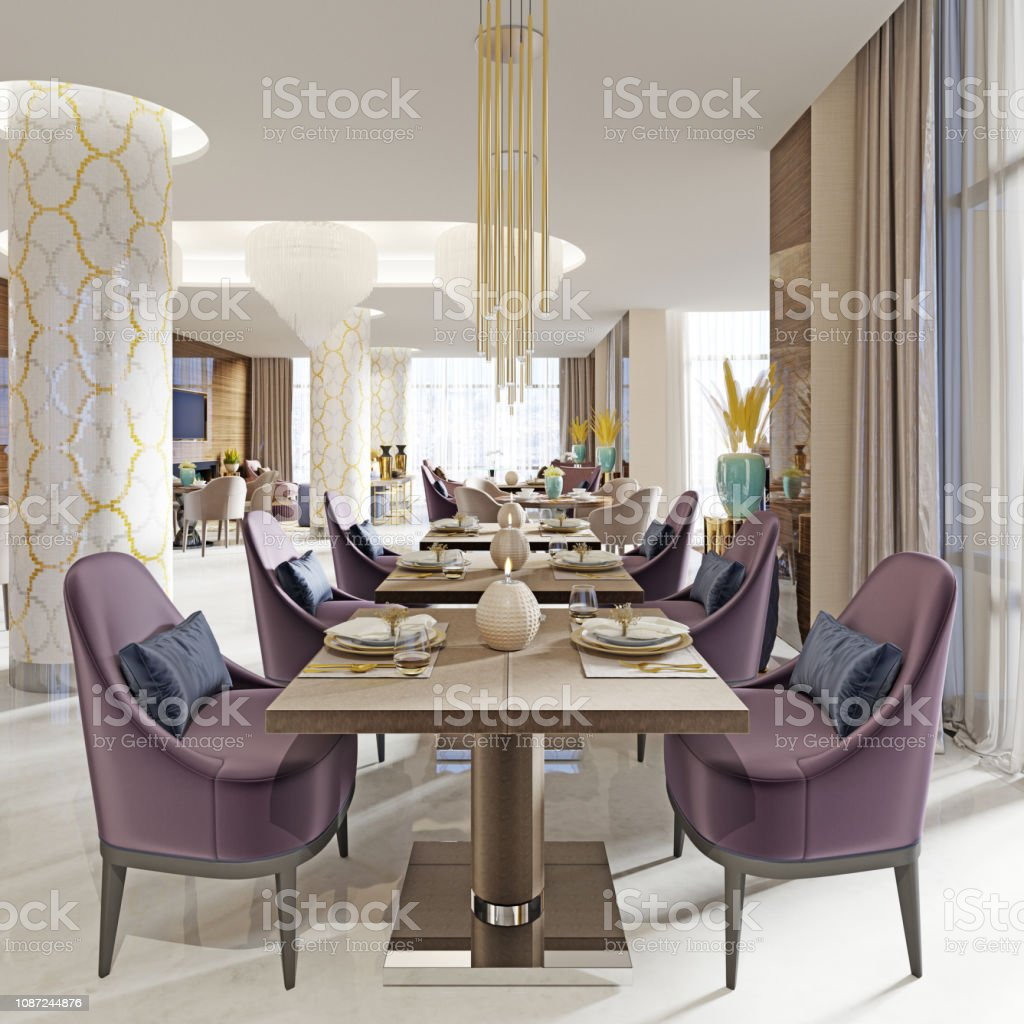 Modern Concept Design Of Restaurant Lounge Stock Photo Download Image Now Istock