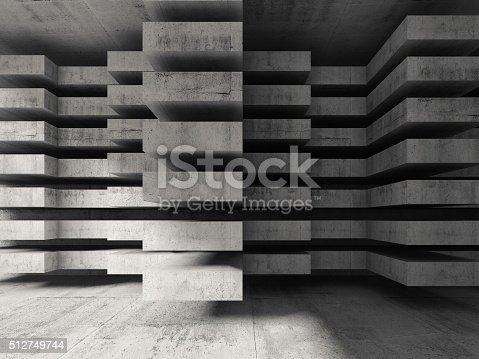 516688156istockphoto Modern concrete 3d architecture background 512749744