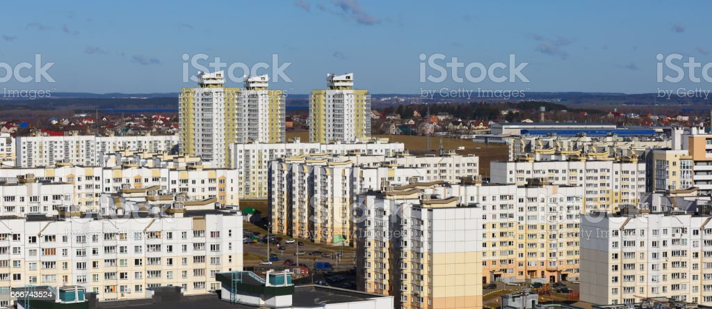 Modern concrete buildings foto stock royalty-free