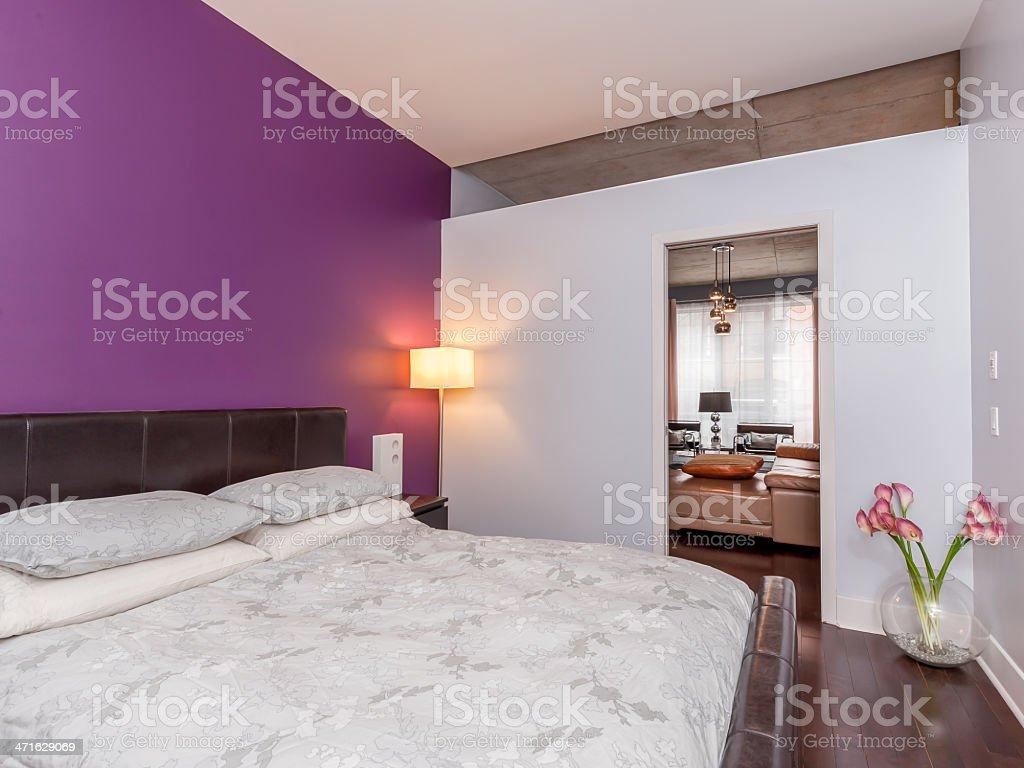 Modern Condo Bedroom royalty-free stock photo