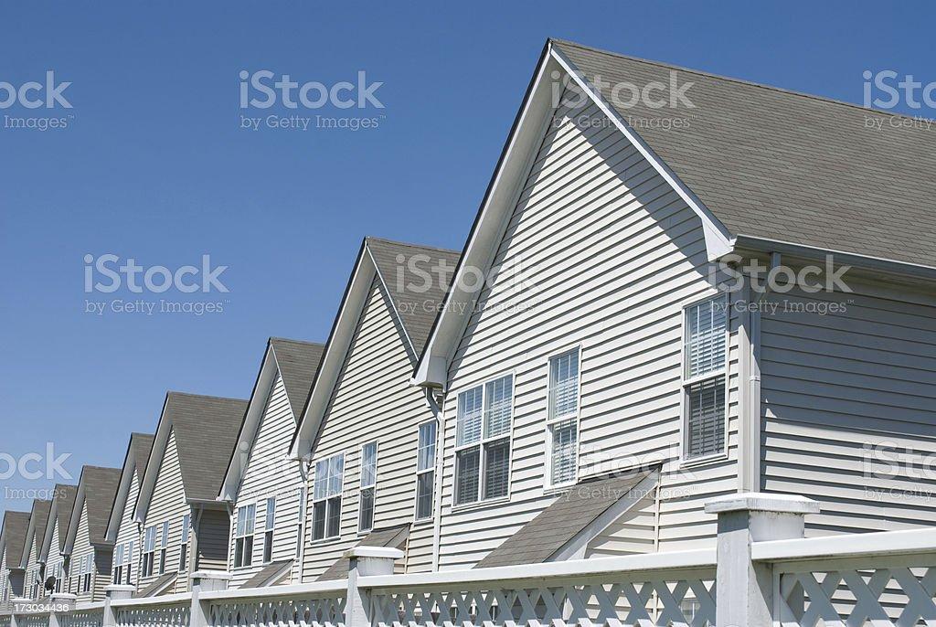 Modern Condo Row stock photo