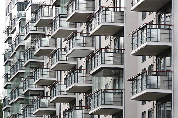 Modern condominium in Norway stock photo