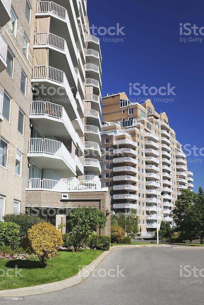 Modern Condominiums Area royalty-free stock photo