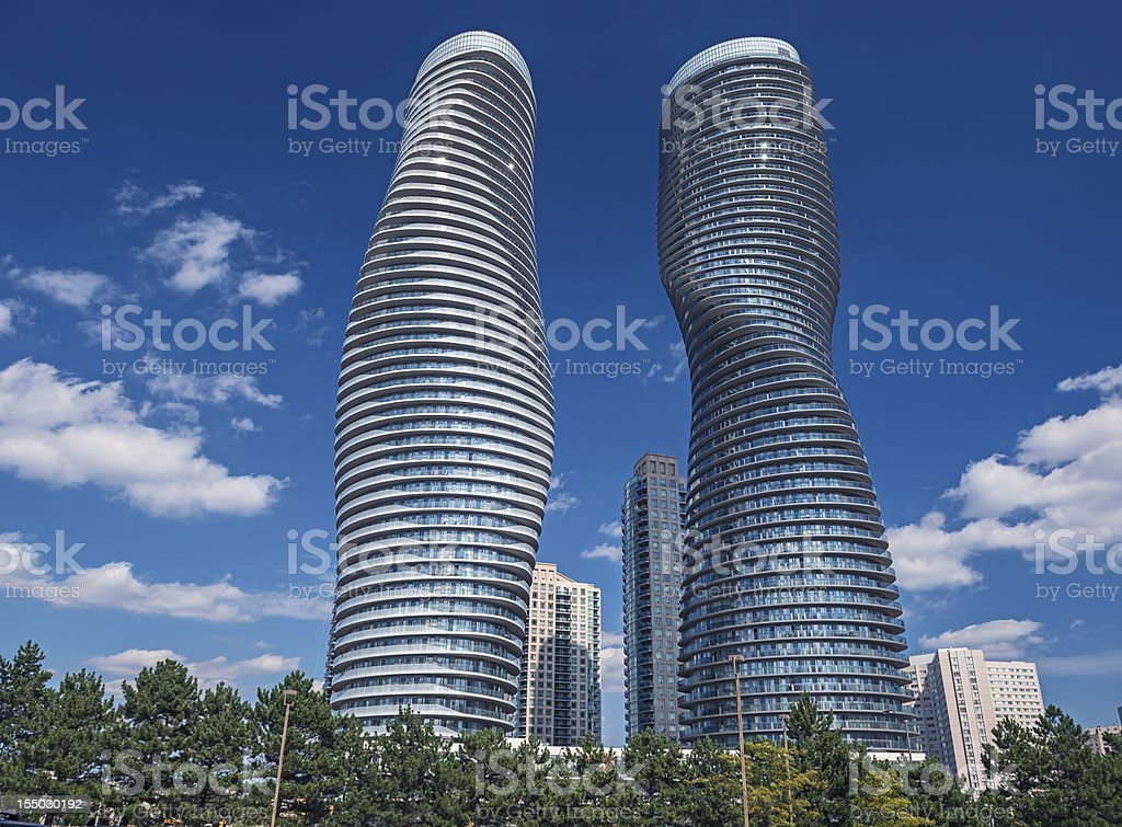Modern condos in Mississauga, Ontario Canada stock photo