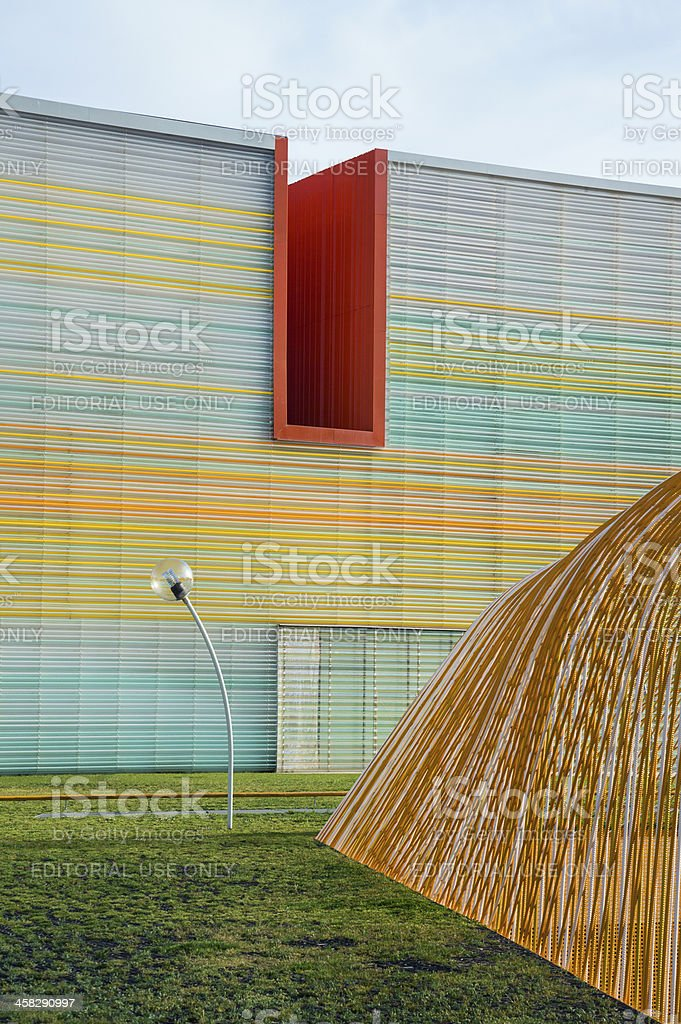 Modern Conference Hall and Auditorium in Cartagena, Spain royalty-free stock photo
