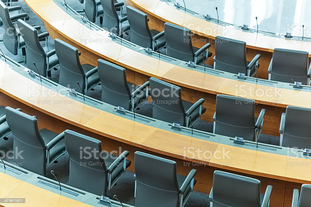 modern conference hall stock photo