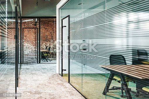 istock Modern Conference Room Background 1211621852