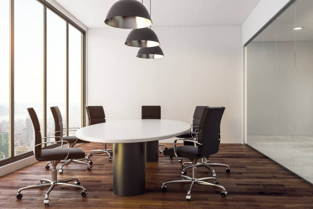 Modern conference room stock photo