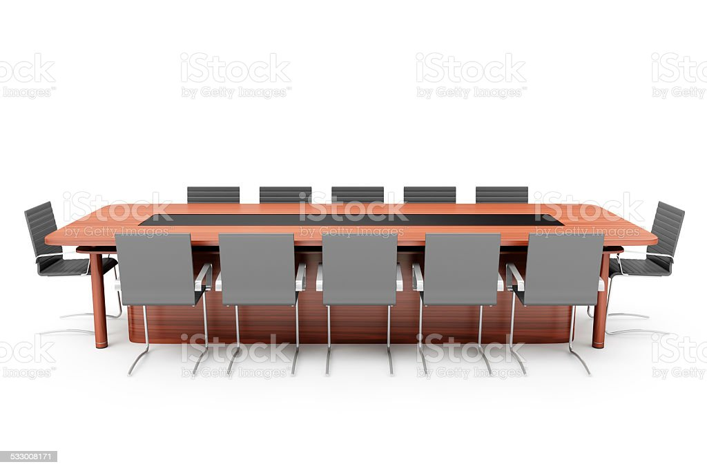 Picture of: Modern Conference Table With Chairs Isolated On White Background Stock Photo Download Image Now Istock
