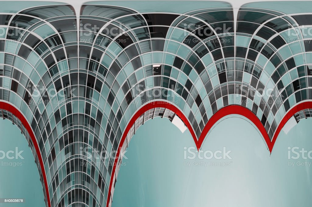 Modern construction of residential high-rise buildings. stock photo