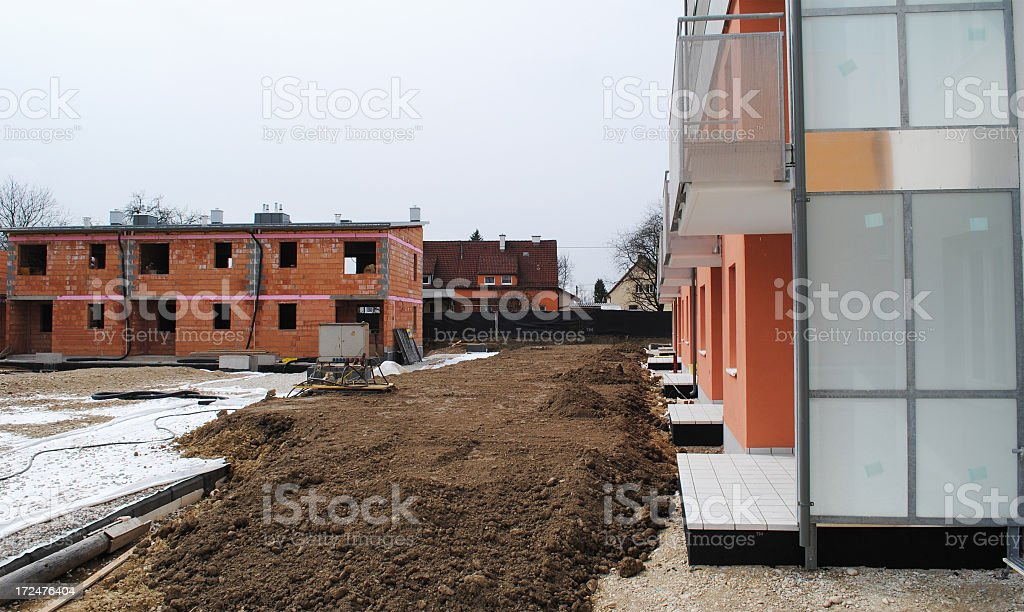Modern Construction Site royalty-free stock photo