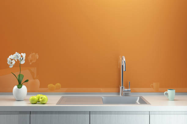 1 356 Orange Kitchen Walls Stock Photos Pictures Royalty Free Images Istock