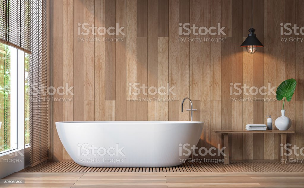Modern contemporary bathroom 3d rendering image stock photo
