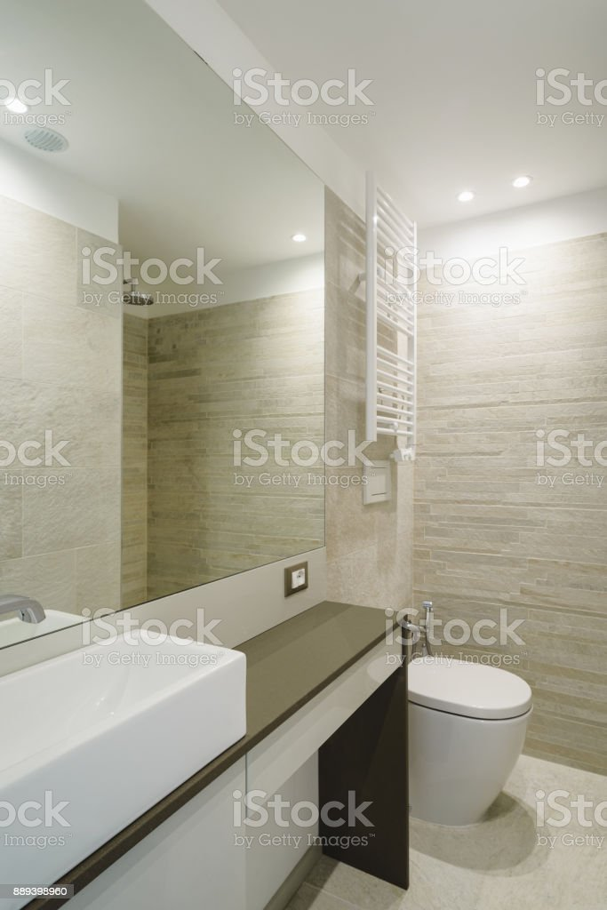 Modern Contemporary Bathroom stock photo