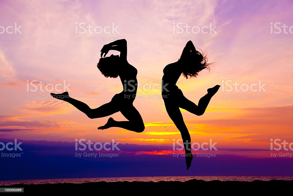modern contemporary dance jumping royalty-free stock photo
