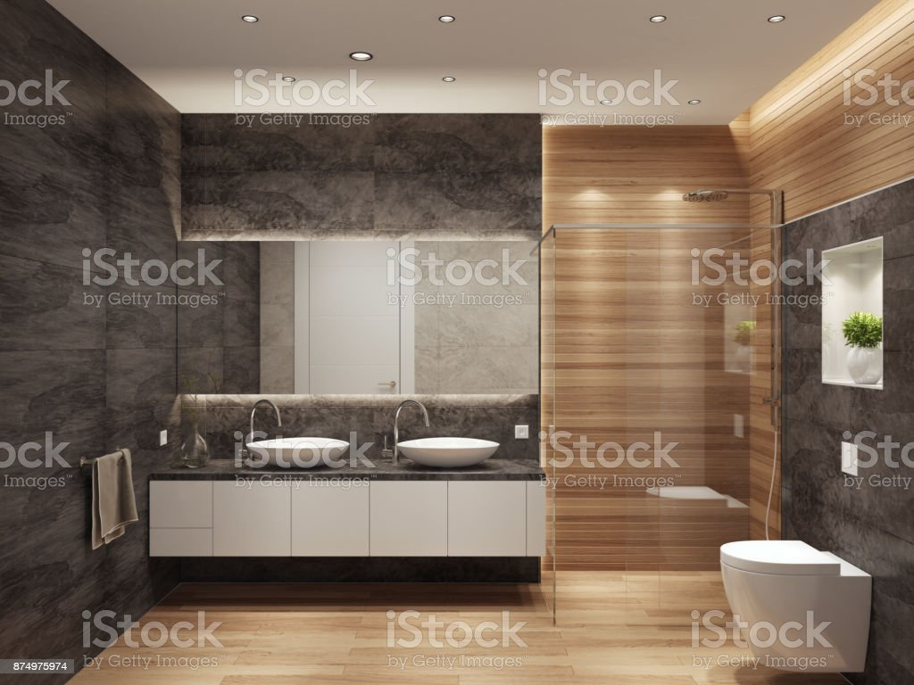 Modern Contemporary Interior Design modern contemporary interior bathroom with two sinks and